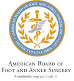 Logo Recognizing Center Grove Foot & Ankle Care's affiliation with the American Board of Foot and Ankle Surgery