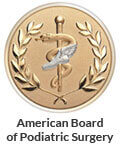 Logo Recognizing Center Grove Foot & Ankle Care's affiliation with the American Board of Podiatric Surgery